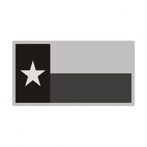 Texas Sticker Decal Vinyl State Subdued Gray Black Flag TX V3