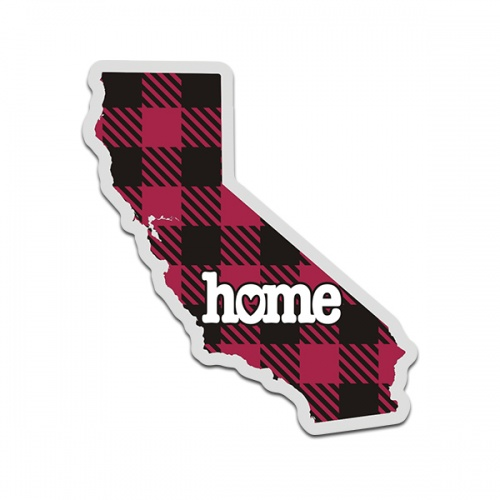 California State Buffalo Plaid Decal CA Checkered Home Map Vinyl Sticker