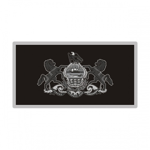 Pennsylvania Sticker Decal Vinyl State Subdued Gray Black Flag PA V3