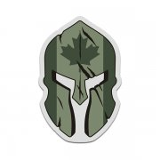 Canada OD Olive Flag Spartan Helmet Military Armed Forces Sticker Decal V3