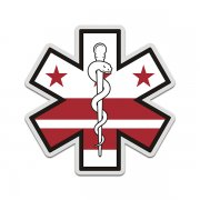 District of Columbia Flag Star of Life DC EMT Paramedic EMS Sticker Decal