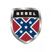 Rebel Confederate Flag Shield Badge Sticker Decal