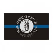 Kentucky State Flag Thin Blue Line KY Police Officer Sheriff Sticker Decal