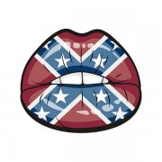 Confederate Flag Sexy Lips Southern Rebel Sticker Decal V2