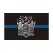 New Jersey State Flag Thin Blue Line NJ Police Officer Sheriff Sticker Decal