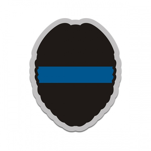 Thin Blue Line Police Officer Badge Sticker Decal V1