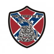 Dont Tread On Me Rebel Confederate Flag Shield Sticker Decal