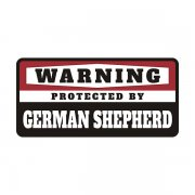 German Shepherd Protected by Warning Decal Guard Dog Vinyl Sticker