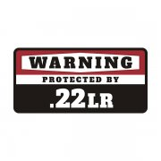 .22LR Security Decal Protected 22 Long Rifle Gun Ammo Vinyl Sticker
