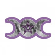 The Goddess Purple Triple Moon Pentacle Sticker Decal
