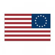 American Revolution Flag Decal Betsy Ross United States Sticker (LH)