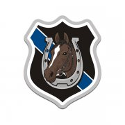 Mounted Police Patrol Bay Horse Thin Blue Line Sticker Decal