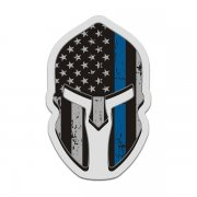 American Flag Thin Blue Line Spartan Helmet Decal Police Sticker