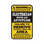 Electrician Warning Yellow Decal Lineman Vinyl Hard Hat Window Sticker