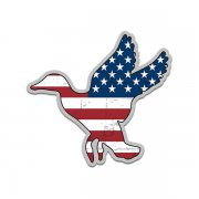 Duck Waterfowl American Flag USA Sticker Decal (LH)