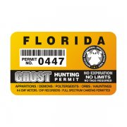"Florida Ghost Hunting Permit 4"" Sticker Decal"