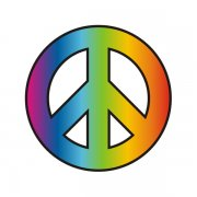 Peace Sign Decal Tye Dye Symbol Round Hippie Sticker