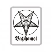 Baphomet Wht/Blk Sticker Decal