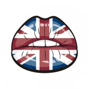 British Union Jack Flag Sexy Lips Great Britain Sticker Decal V2