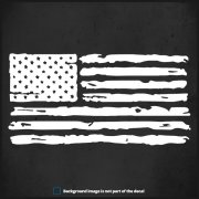 "American Distressed US Flag Decal 6""x3"" Jeep Wrangler TJ YJ JK JL Sticker (RH)"