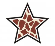 Star Giraffe Animal Skin Print Sticker Decal