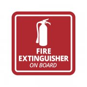 Fire Extinguish​er on Board Industrial Safety Sticker Decal