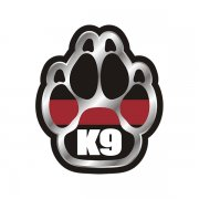 Thin Red Line Paw Firefighter K9 Unit Sticker Decal