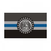 Missouri State Flag Thin Blue Line MO Police Officer Sheriff Sticker Decal