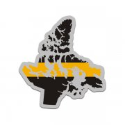 Nunavut Thin Gold Line Decal NU 911 Dispatcher Vinyl Sticker