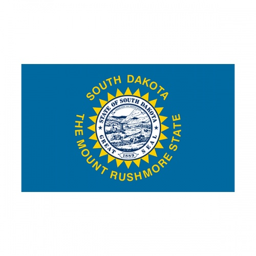 South Dakota State Flag SD Vinyl Sticker Decal