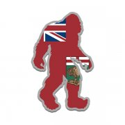 Manitoba Flag Bigfoot Decal MB Sasquatch Big Foot Sticker V2