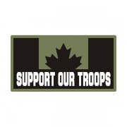 Canada Support Our Troops Green Black OD Subdued Flag CA Decal Sticker V3