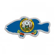 Idaho State Flag Bass Fish Decal ID Largemouth Fishing Sticker