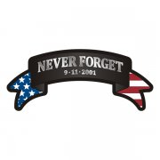 Never Forget Ribbon American Flag Decal 9/11 Firefighter Vinyl Sticker