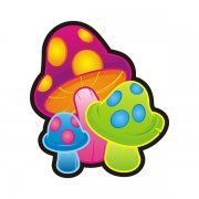 Psychedelic Magic Mushrooms 'shrooms Drug Sticker Decal