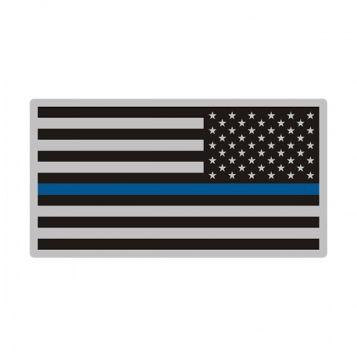 Thin Blue Line American Subdued Flag USA Decal Sticker (LH) V3