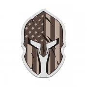 American Desert Tan Flag Spartan Helmet Military Armed Forces Sticker Decal V3