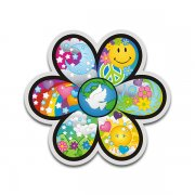 Flower Power Psychedelic Peace Anti-War Sticker Decal