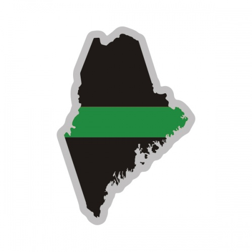 Maine State Thin Green Line Decal ME Military Ranger Sticker