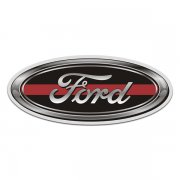 Ford Thin Red Line Oval Sticker Decal