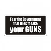 Fear The Government That Tries to Take Your Guns Sticker Decal