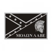 Molon Labe Subdued Rebel Confederate Flag Decal 2nd Amendment Sticker