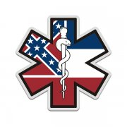 Mississippi State Flag Star of Life MS EMT Paramedic EMS Sticker Decal