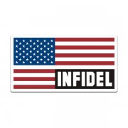American USA Flag Infidel Sticker Decal V3
