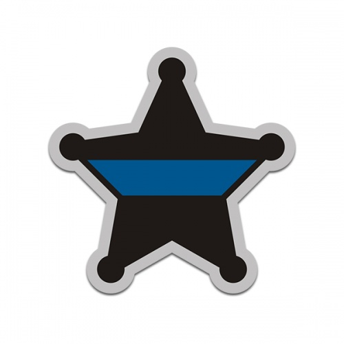 Thin Blue Line Sheriff 5 Point Badge Deputy Sticker Decal
