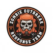 Zombie Outbreak Response Unit Zombies Hunter Orange Sticker Decal V2
