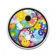 Yin Yang Psychedelic Peace Anti-War Sticker Decal