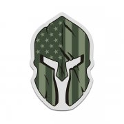 American OD Olive Flag Spartan Helmet Military Armed Forces Sticker Decal V3