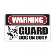 Guard Dog on Duty Warning Decal Dogs Protection Vinyl Sticker V2