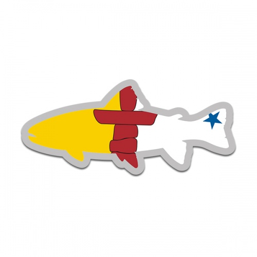 Nunavut Flag Trout Fish Decal NU Fly Fishing Sticker